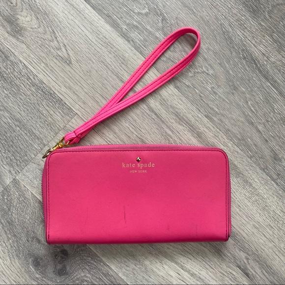 kate spade Handbags - Authentic Kate Spade Hot Pink Wallet